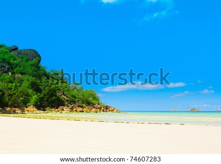 Landscape Shore Panorama - stock photo