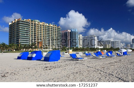 landscape,shot of  miami beach florida - stock photo