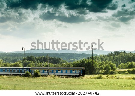 Landscape Train Photo - stock photo