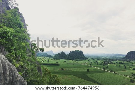 Landscape view and mountain