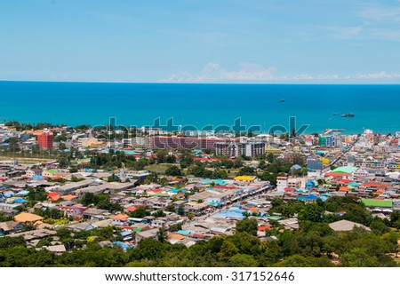 Landscape view of Huahin, Thailand.