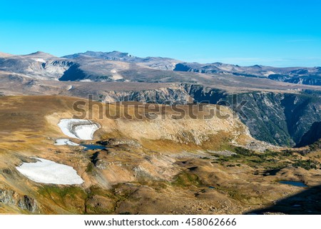Landscape view of the Beartooth Mountains in Montana, USA - stock photo