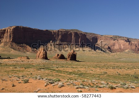 landscape view of the famous monument valley national park in Utah USA