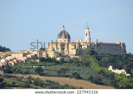 Landscape view of the Shrine of Loreto, Italy - stock photo