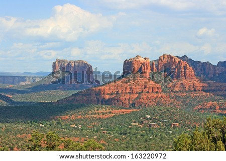 Landscape with Cathedral Rock - stock photo