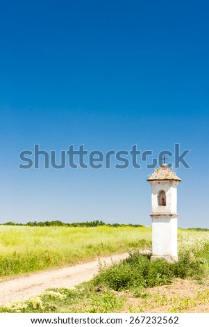 landscape with God's torture in Southern Moravia, Czech Republic - stock photo
