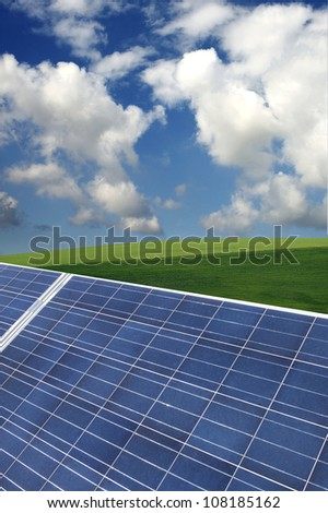 Landscape with photovoltaic panels