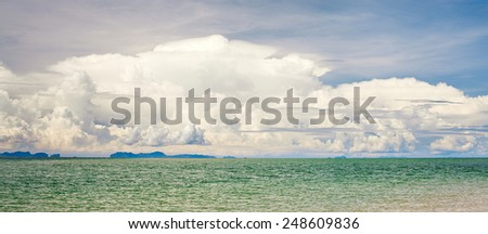 landscape with sea and clouds, Asia, Thailand - stock photo