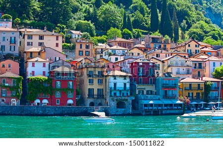 Landscapes around famous lake Como in northern Italy - stock photo