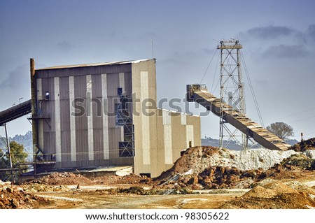 landscapes at the Rio Tinto Mines, Spain - stock photo