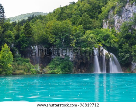 Landscapes from the Plitvice natural Park in Croatia - stock photo