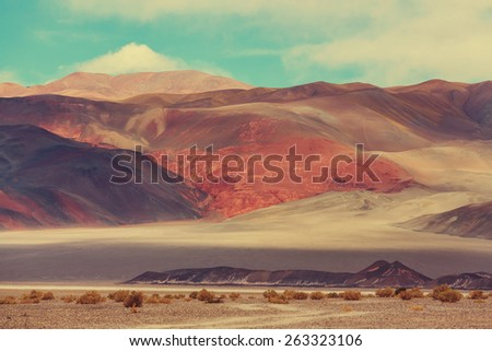 Landscapes of Northern Argentina - stock photo