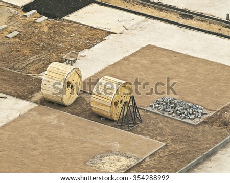 landscaping materials - stock photo