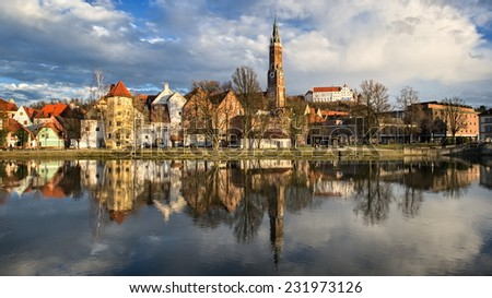 Landshut, an old bavarian town by Munich, Germany - stock photo