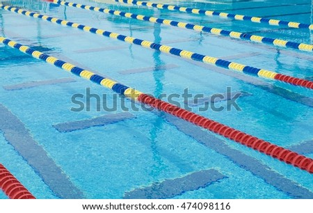 Lanes Competition Olympic Size Swimming Pool Stock Photo