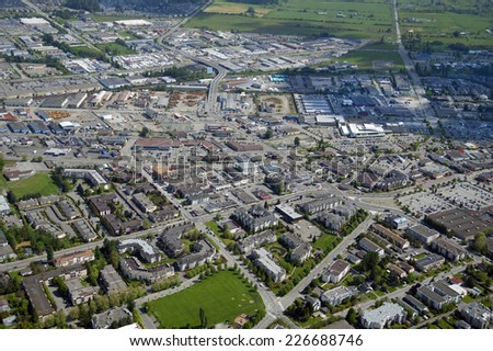Langley Centre, Douglas Crescent, and Langley Bypass, British Columbia, Canada, 56 Ave, 204 Street, 200 Street, Fraser Highway - stock photo