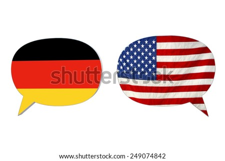languages flags isolated on white background - stock photo