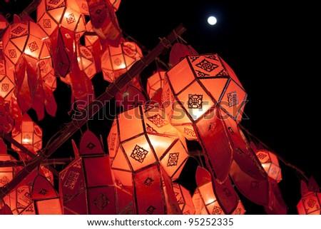 lanna lantern - stock photo