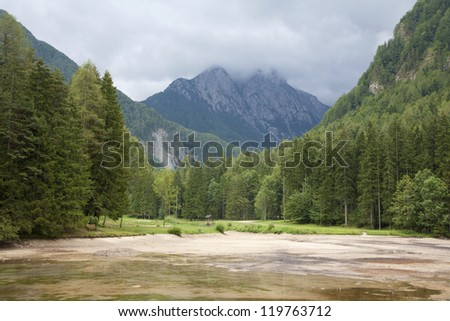 lanscape from north Slovakia - stock photo