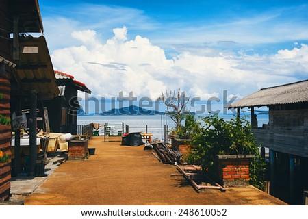 Lanta Yai Town, Andaman Sea, in Thailand - stock photo