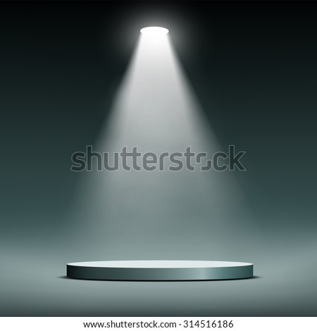 Lantern illuminates round scene. Stock image. - stock photo