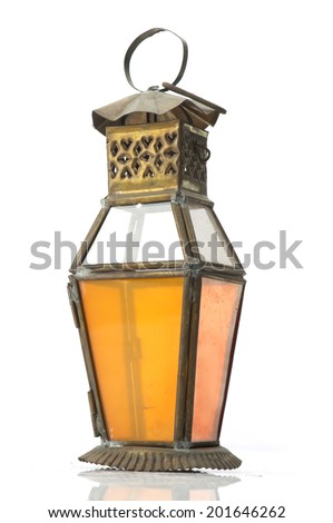 Lantern Isolated, Ramadan Lamp Concept - stock photo