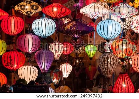 Lantern, Vietnam - stock photo