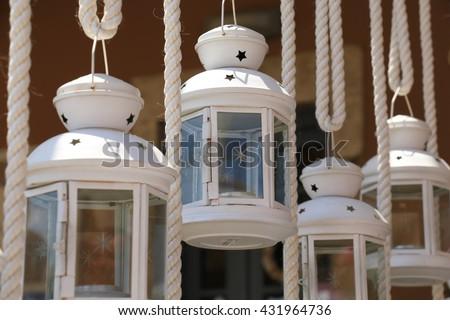 lanterns - stock photo