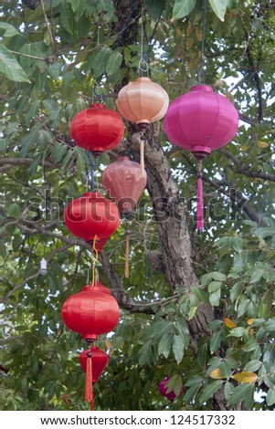 Lanterns in Hoi An, Vietnam - stock photo