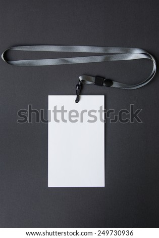 Lanyard and badge - stock photo