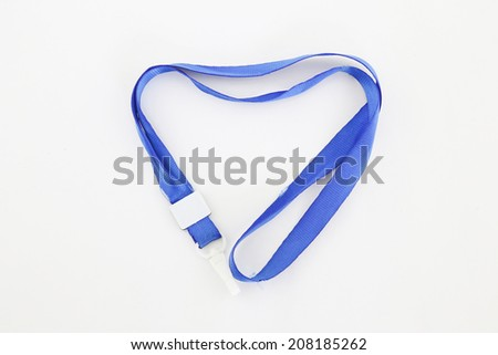lanyard for badge tag on white - stock photo