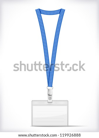 Lanyard with Tag Badge Holder isolated on white