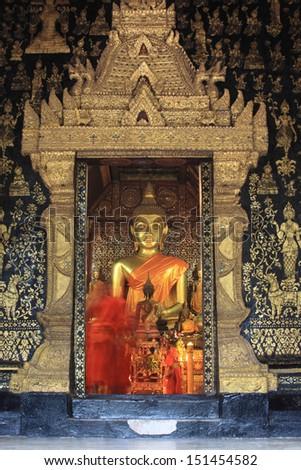 Laos Heritage state at Wat Xieng Thong luang prabang Laos  - stock photo