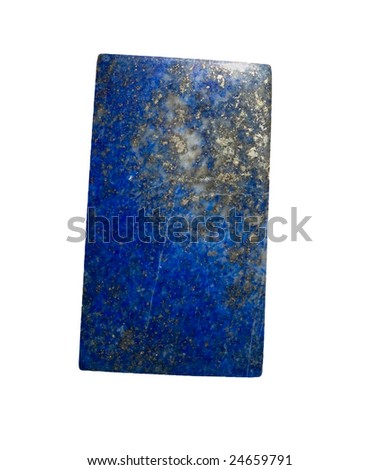 lapis lazuli isolated with clipping path