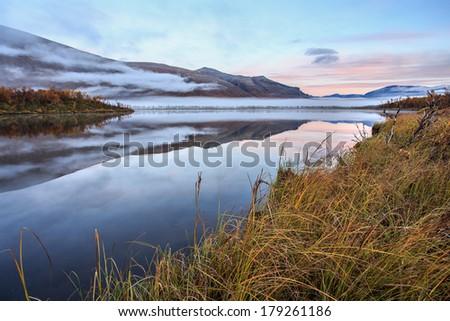 lapland wilderness - stock photo