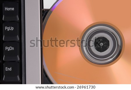 laptop and disk dvd