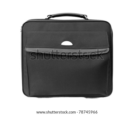 Laptop bag isolated on white