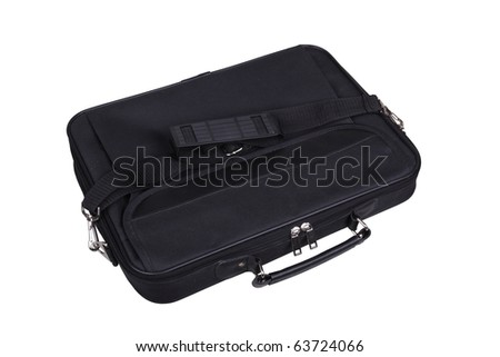 Laptop Case. Isolated on a white background - stock photo