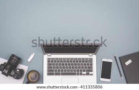 laptop hero header - stock photo