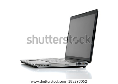 Laptop isolated against a white background
