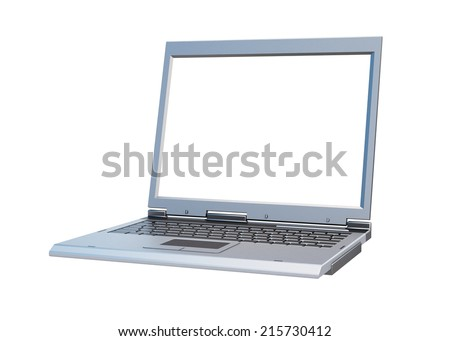 Laptop Isolated 3d render