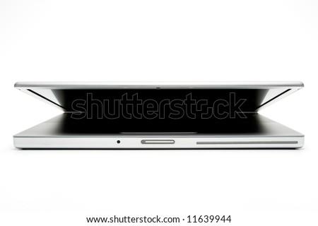Laptop isolated on white - stock photo