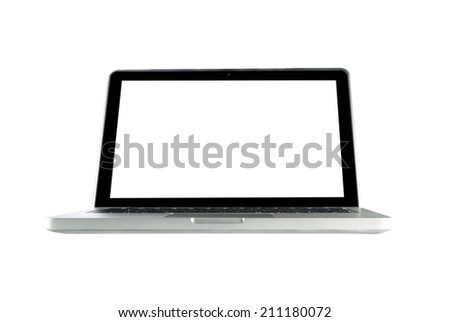 Laptop Isolated on White Background.