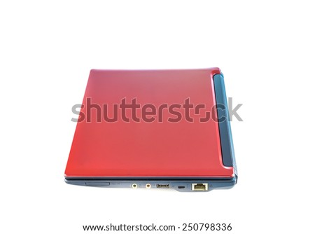 laptop isolated on white background - stock photo