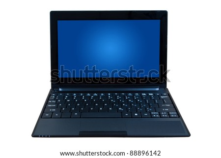 Laptop isolated with clipping path.