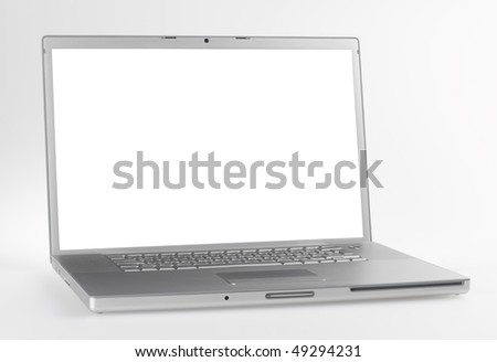 laptop,isolated with paths - stock photo