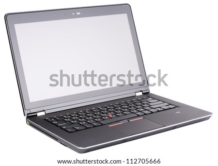 Laptop (notebook) isolated on the white background