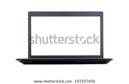 Laptop notebook isolated on white background