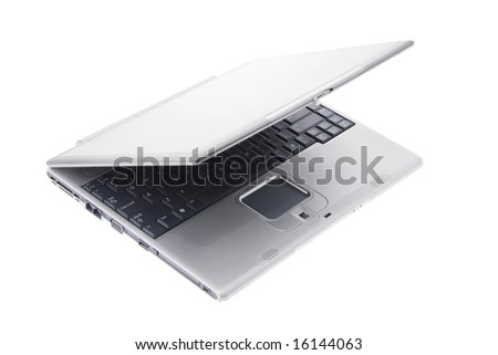 Laptop on Isolated White Background