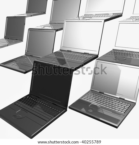 Laptop tiles background illustration
